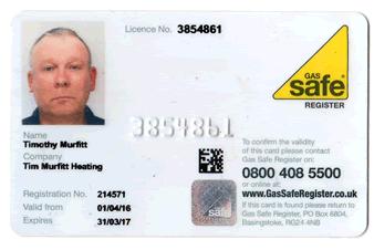 Gas Safe / Corgi Registered